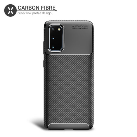 Olixar Carbon Fibre Samsung Galaxy S20 Case - Black