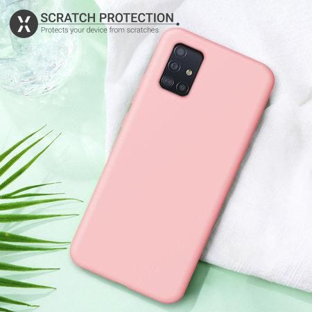 Olixar Samsung Galaxy A71 Soft Silicone Case - Pastel Pink