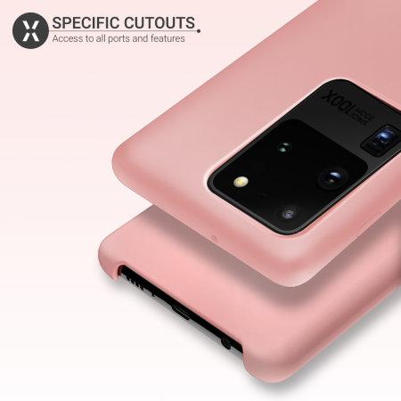 Olixar Samsung Galaxy S20 Ultra Soft Silicone Case - Pastel Pink