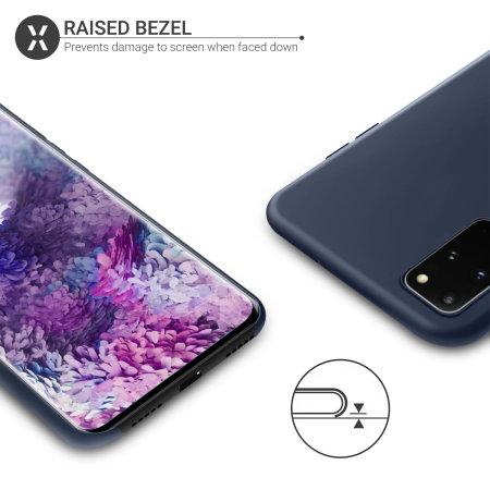 Olixar Samsung Galaxy S20 Plus Soft Silicone Case - Midnight Blue