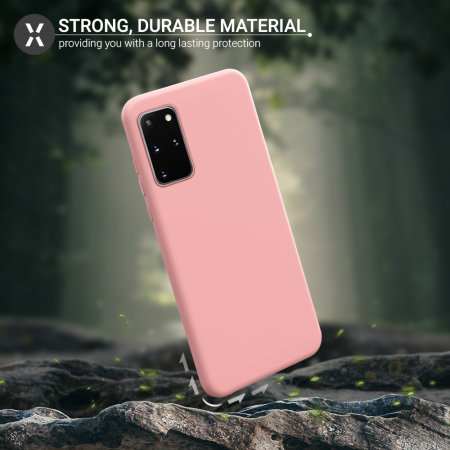 Olixar Samsung Galaxy S20 Plus Soft Silicone Case - Pastel Pink