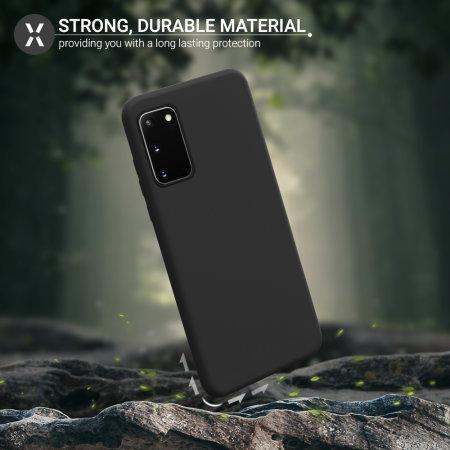 Olixar Samsung Galaxy S20 Soft Silicone Case - Black