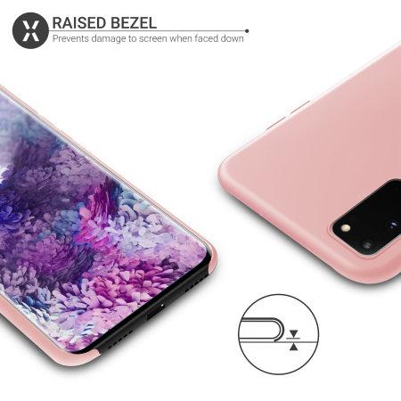 Olixar Samsung Galaxy S20 Soft Silicone Case - Pastel Pink