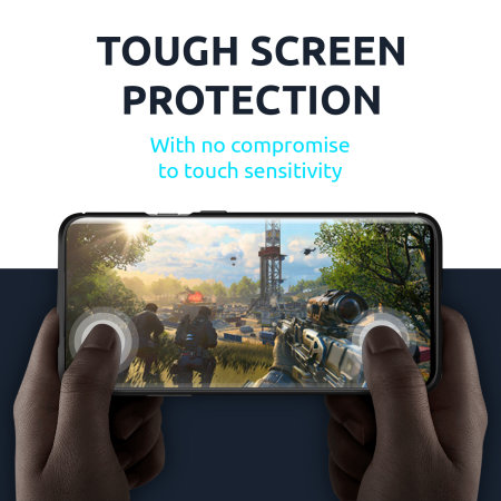 Olixar Sentinel Samsung A71 Case & Glass Screen Protector - Black