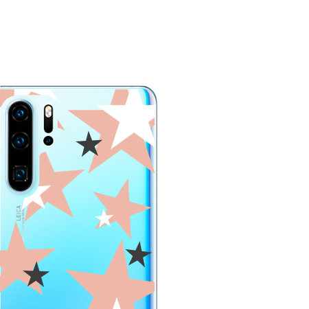LoveCases Huawei P30 Pro Pink Star Clear Phone Case