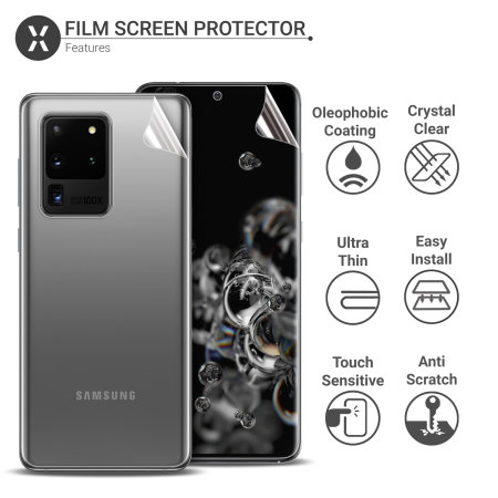 Olixar Front And Back Samsung Galaxy S20 Ultra TPU Screen Protectors