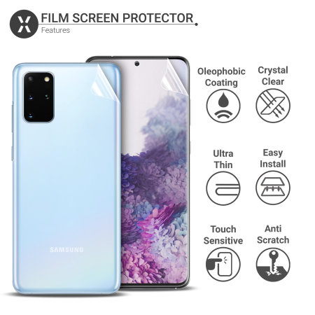 Olixar Voor en Achter Samsung Galaxy S20 Plus TPU Screenprotector