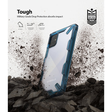 Ringke Fusion X Samsung Galaxy A71 Tough Case - Space Blue