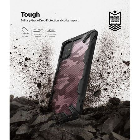 Ringke Fusion X Design Samsung Galaxy A71 Tough Case - Camo Black