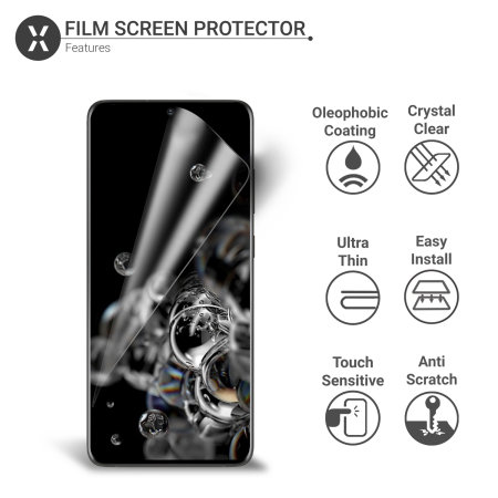 Olixar Samsung Galaxy S20 Ultra Film Screen Protector 2-in-1 Pack