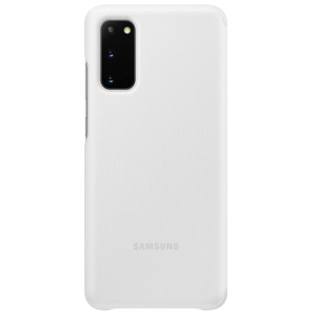 Official Samsung Galaxy S20 Clear View Cover Case - White