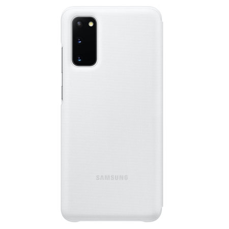 Official Samsung Galaxy S20 LED View Cover Case - White