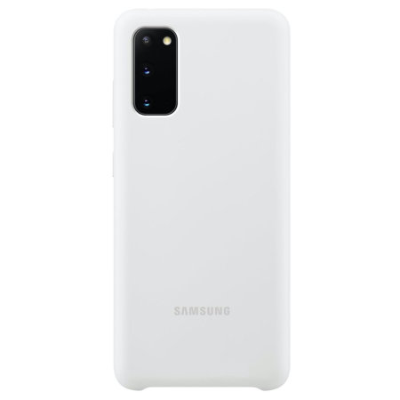 Official Samsung Galaxy S20 Silicone Cover Case - White