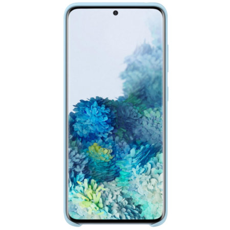 Official Samsung Galaxy S20 Silicone Cover Case - Sky Blue