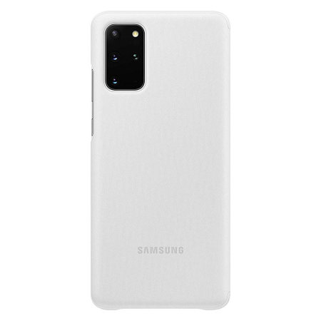 Official Samsung Galaxy S20 Plus Clear View Cover Case - White
