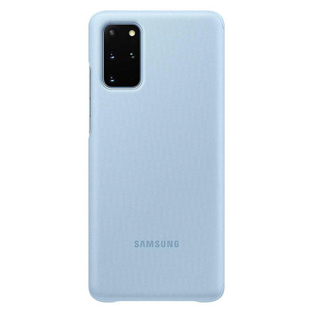 Official Samsung Galaxy S20 Plus Clear View Cover Case - Sky Blue