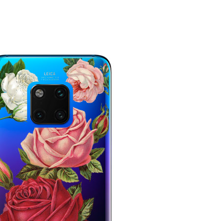 LoveCases Huawei Mate 20 Pro Roses Clear Phone Case