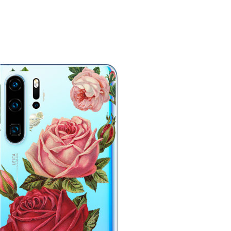 LoveCases Huawei P30 Pro Roses Clear Phone Case
