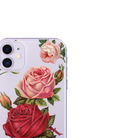 LoveCases iPhone 11 Roses Clear Phone Case