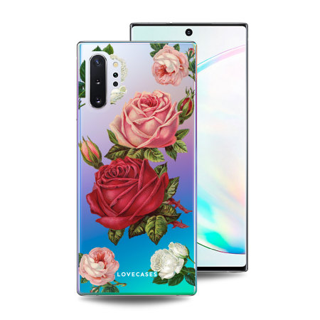 LoveCases Samsung Note 10 Plus Roses Clear Phone Case