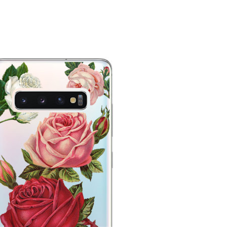 LoveCases Samsung S10 Roses Clear Phone Case