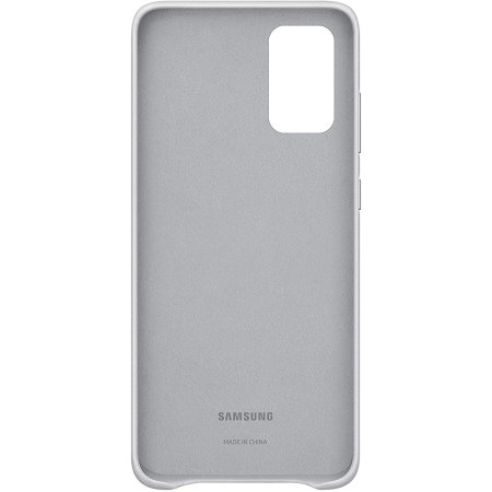 Official Samsung Galaxy S20 Plus Leather Cover Case - Light Grey