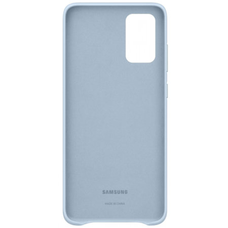 Official Samsung Galaxy S20 Plus Leather Cover Case - Sky Blue