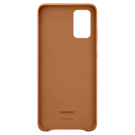 Official Samsung Galaxy S20 Plus Leather Cover Case - Brown