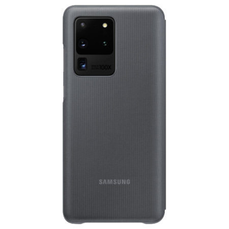Official Samsung Galaxy S20 Ultra LED View Cover Case - Grey