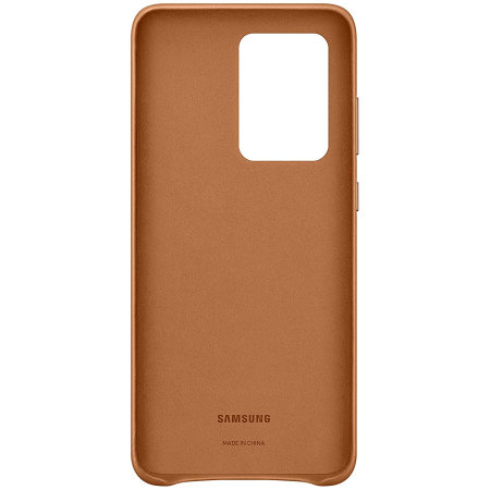 Official Samsung Galaxy S20 Ultra Leather Cover Case - Brown