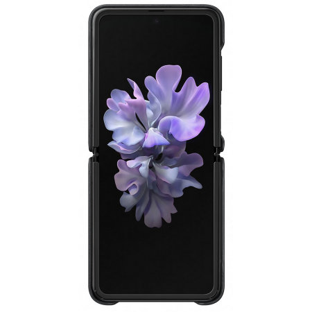 Funda Oficial Samsung Galaxy Z Flip Leather Cover - Negra