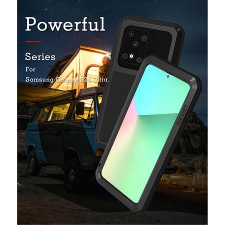 Love Mei Powerful Samsung Galaxy S20 Ultra Protective Case - Black