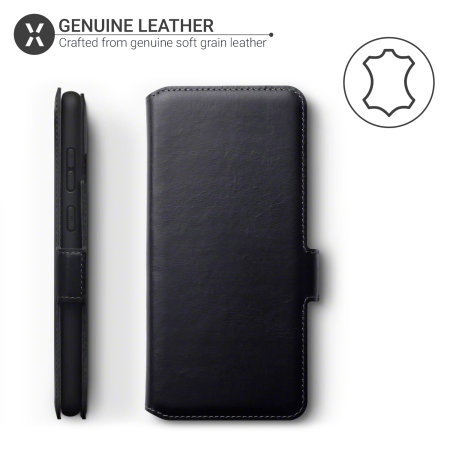 Olixar Slim Genuine Leather Samsung Galaxy S20 Plus Wallet Case