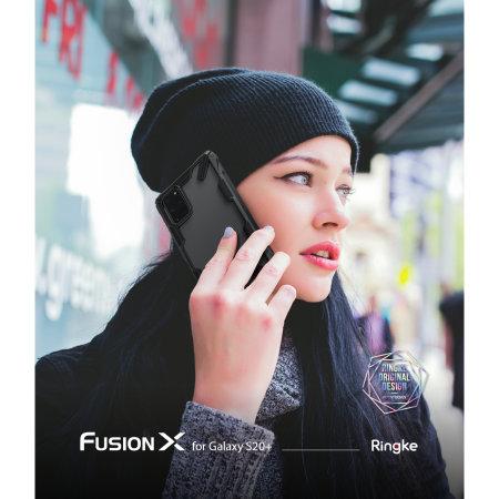 Ringke Fusion X Samsung Galaxy S20 Plus Tough Case - Black
