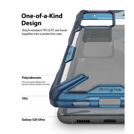 Ringke Fusion X Samsung Galaxy S20 Ultra Tough Case - Space Blue