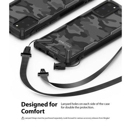 Ringke Fusion X Design Samsung Galaxy S20 Plus Tough Case - Camo Black