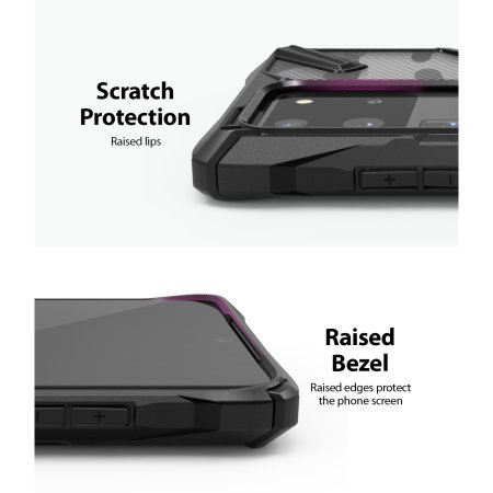 Ringke Fusion X Design Samsung Galaxy S20 Ultra Tough Case- Camo Black