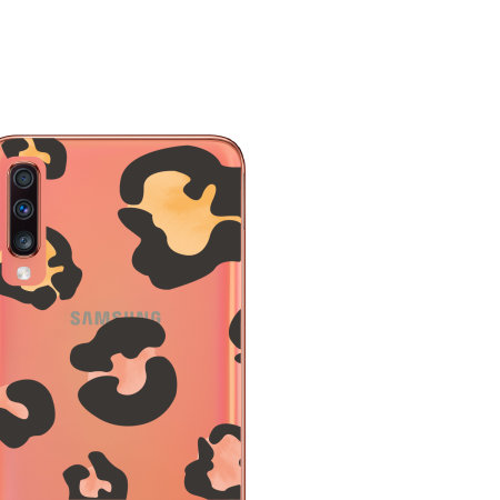 LoveCases Samsung A70 Leopard Print Clear Case - Multicolour