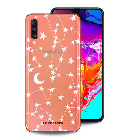 LoveCases Samsung A70 Clear Starry Phone Case