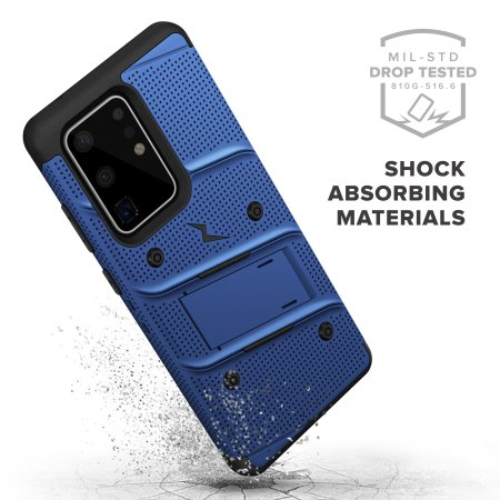 Zizo Bolt Samsung Galaxy S20 Ultra Tough Case - Blue