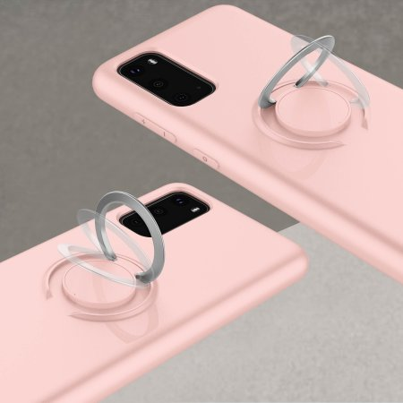 Zizo Revolve Series Samsung S20 Thin Ring Case - Rose Quartz