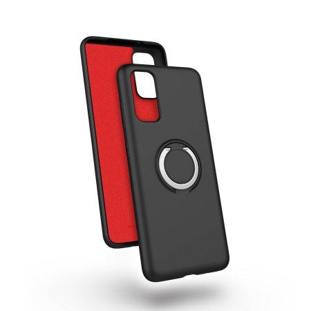Zizo Revolve Series Samsung S20 Thin Ring Case - Magnetic Black
