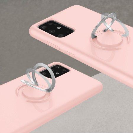 Zizo Revolve Series Galaxy S20 Plus Ultra Thin Ring Case - Rose Quartz