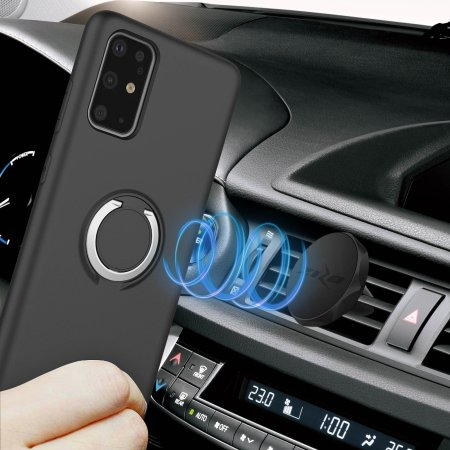 Zizo Revolve Series Galaxy S20 Plus Ultra Thin Ring Case - Black