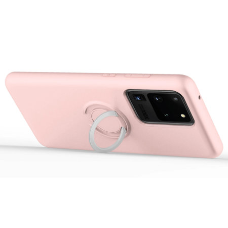 Zizo Ultra Thin Revolve Series Galaxy S20 Ultra Ring Case- Rose Quartz