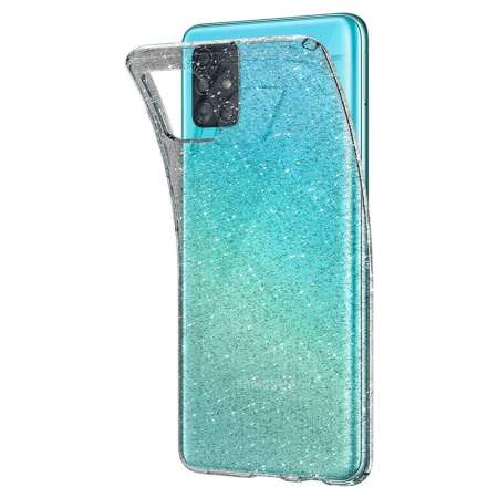 Spigen Liquid Crystal Glitter Samsung Galaxy A51 Case - Crystal Quartz