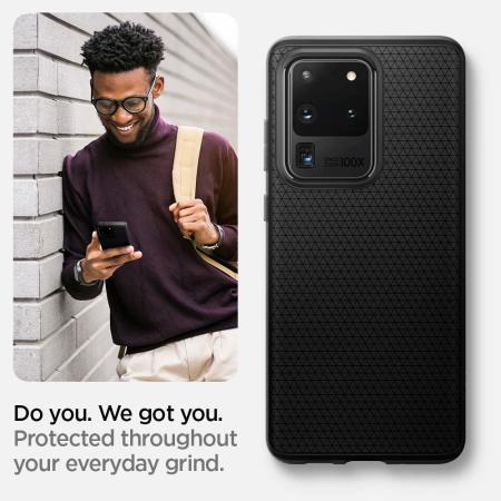Spigen Liquid Air Samsung Galaxy S20 Ultra Case - Matte Black