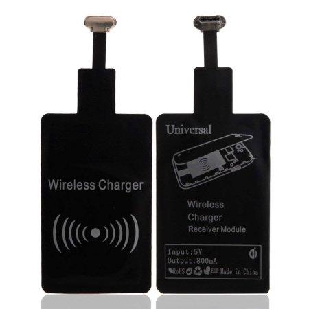 Ultra Thin Samsung Galaxy A71 USB-C Qi Wireless Charging Adapter