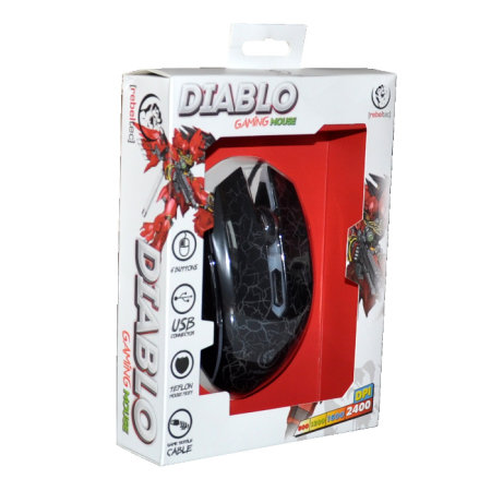 Rebeltec Diablo Lightening Gaming Mouse - Red LED