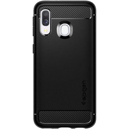 Spigen Rugged Armor Samsung Galaxy A40 Case - Matte Black